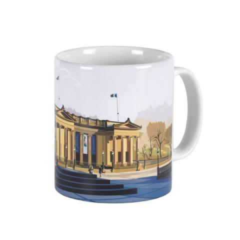 Scottish National Gallery graphic ceramic mug