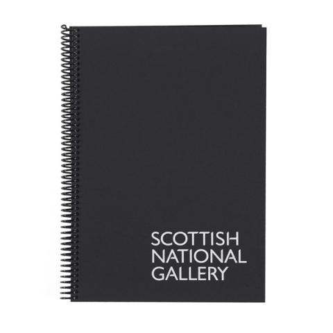 National Galleries of Scotland A4 black coil sketchbook