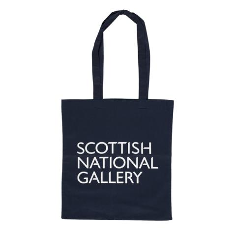 National Galleries of Scotland navy blue shopper bag
