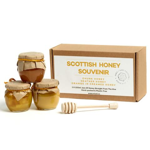 Scottish honey souvenir gift set