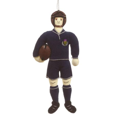 Scottish rugby player fabric Christmas decoration