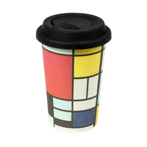Composition Piet Mondrian Bamboo Coffee Cup
