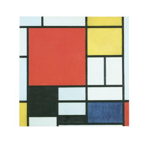 Composition Piet Mondrian Square Notebook