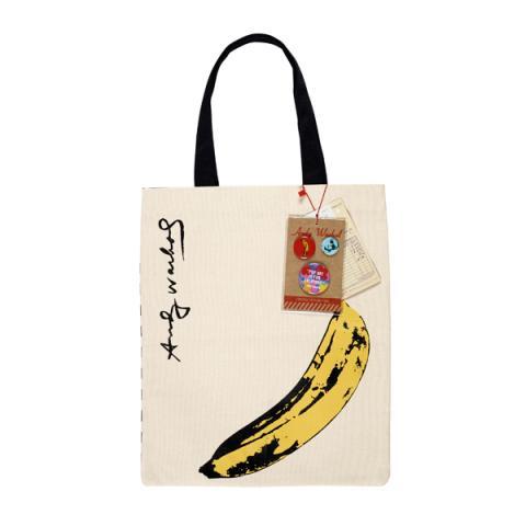 Banana by Andy Warhol reusable canvas tote bag
