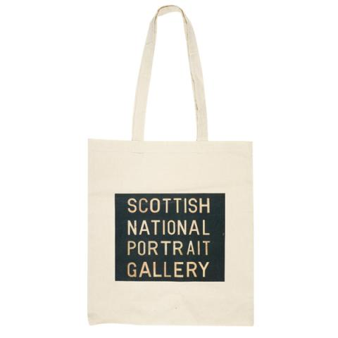 Scottish National Portrait Gallery Bus Blind canvas reusable tote bag