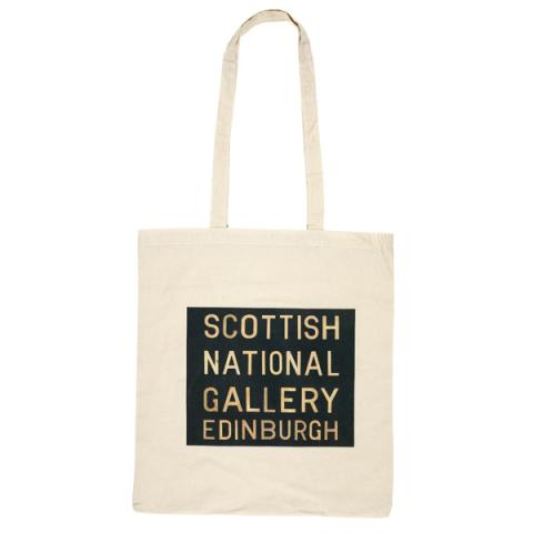 Scottish National Gallery bus blind canvas reusable tote bag