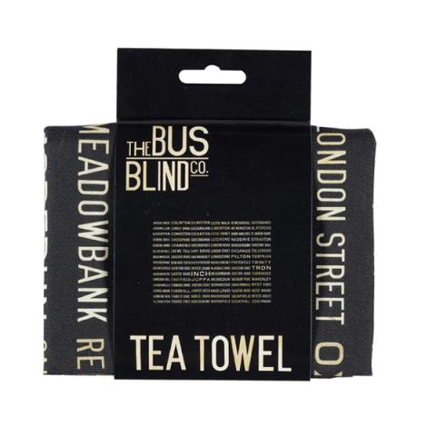 Edinburgh A-Z Bus Blind Tea Towel