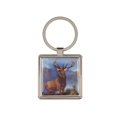 The Monarch of the Glen Edwin Landseer Metal Keyring