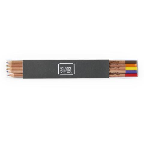 National Galleries of Scotland slim line pencil set (10 colours)