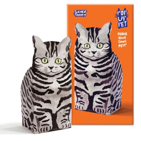 Silver Tabby pop up pet