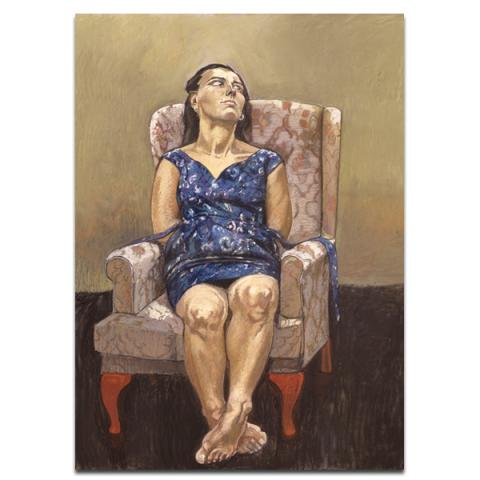 Sit by Paula Rego poster print