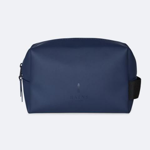 Small waterproof blue washbag