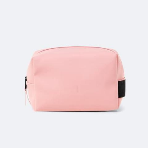 Small waterproof light pink washbag