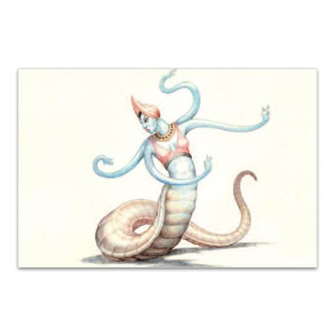 Snake-Woman key drawing from 'The 7th Voyage of Sinbad' magnet