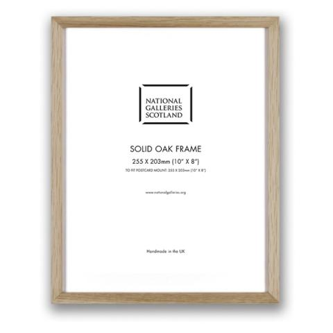 """Solid oak 10 x 8 """" box picture frame"""