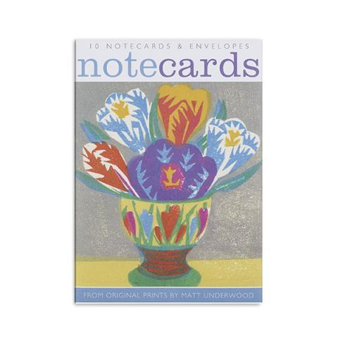 Spring flowers notecard set