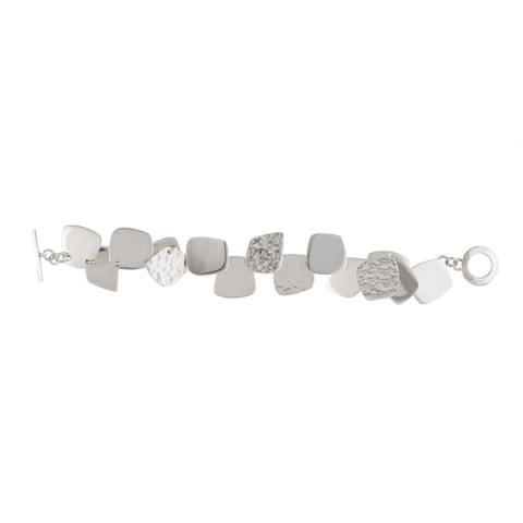 Square shapes silver bracelet