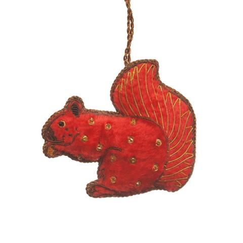 Squirrel fabric Christmas decoration