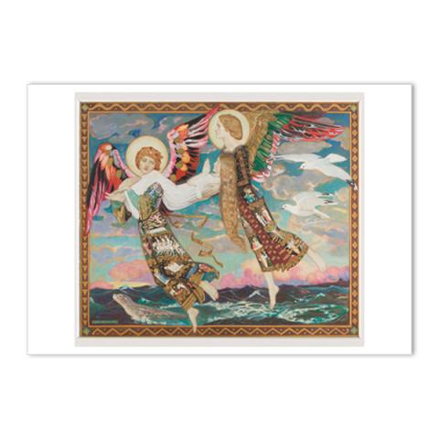 Saint Bride by John Duncan A5 postcard