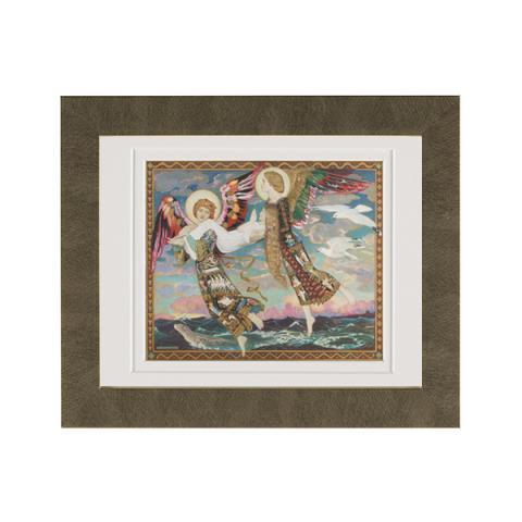 Saint Bride ready to hang gold framed print