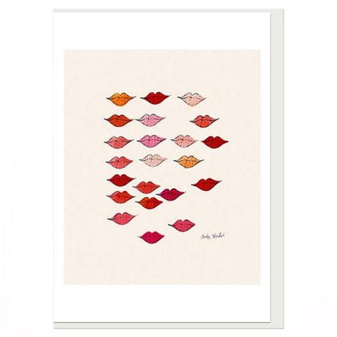 Stamped Lips Andy Warhol Greeting Card