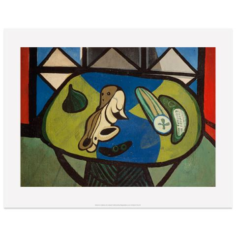 Still life with Cucumber by Robert MacBryde art print