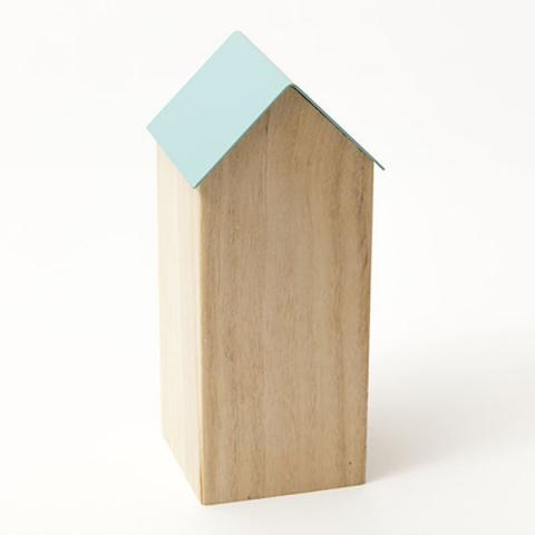 Storage house (blue roof) desk accessory