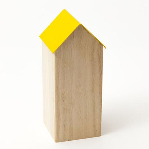 Storage house (yellow roof) desk accessory