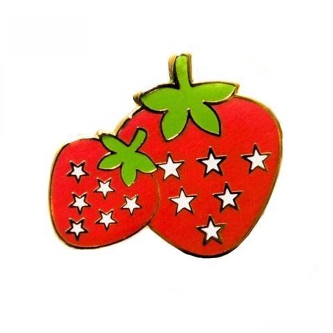 Acorn & Will Strawberry Enamel Pin