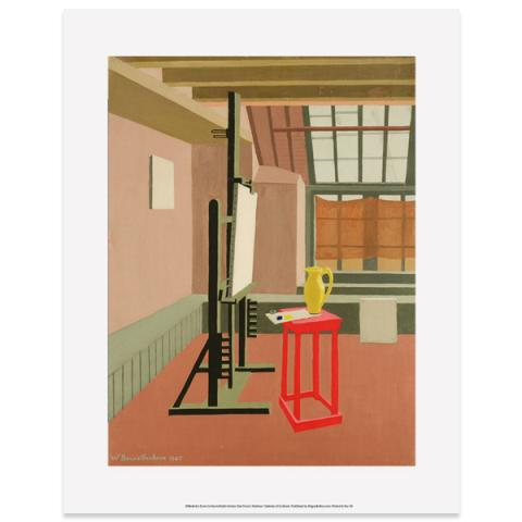 Studio Interior (Red Stool) Wilhelmina Barns-Graham Art Print