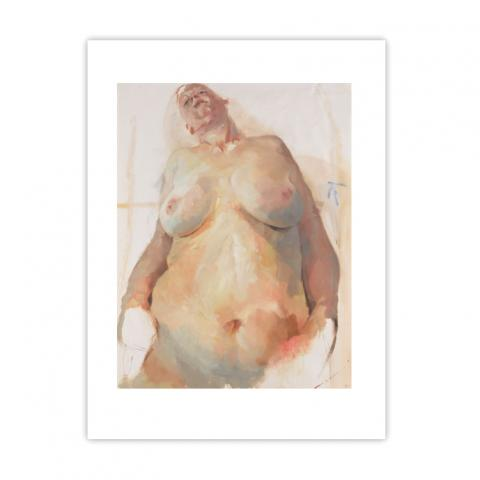 Study for Branded by Jenny Saville large mounted postcard