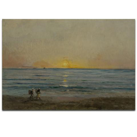 Sunset near Villerville by Charles Francois Daubigny poster print (40 x 30 cm)