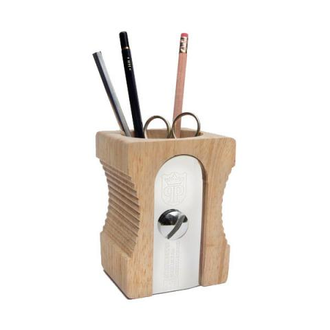 Supersize pencil sharpener pen-pot