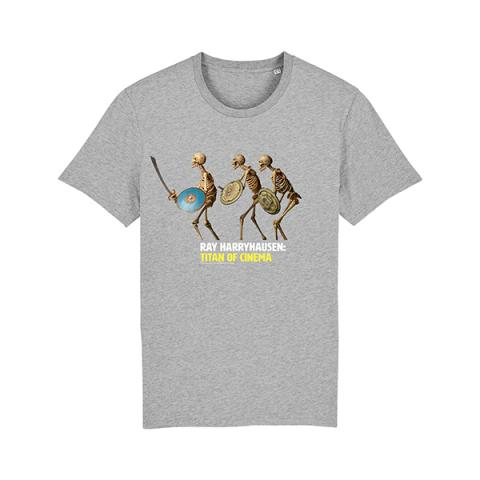 Skeletons from Jason and the Argonauts grey t-shirt (age 9-10)