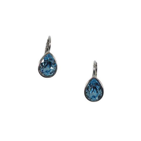 Teardrop pale blue aqua crystal earrings