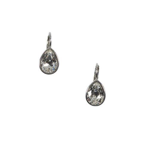 Teardrop white crystal earrings