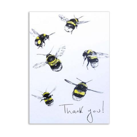 Thank you bees by Hannah Longmuir greeting card