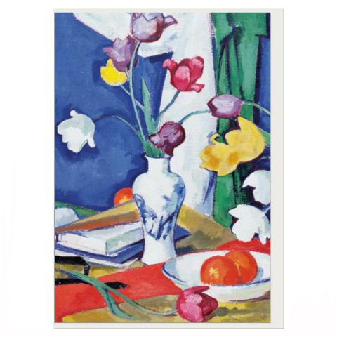 Tulips And Fruit Samuel John Peploe Greeting Card