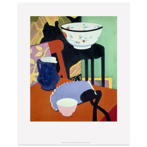 The Blue Fan by Francis Campbell Boileau Cadell art print