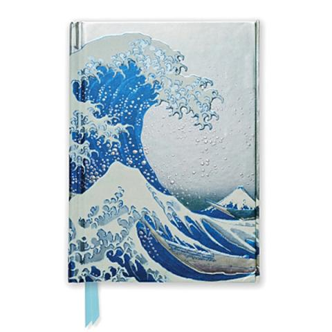 The Great Wave by Katsushika Hokusai A6 foil cover notebook