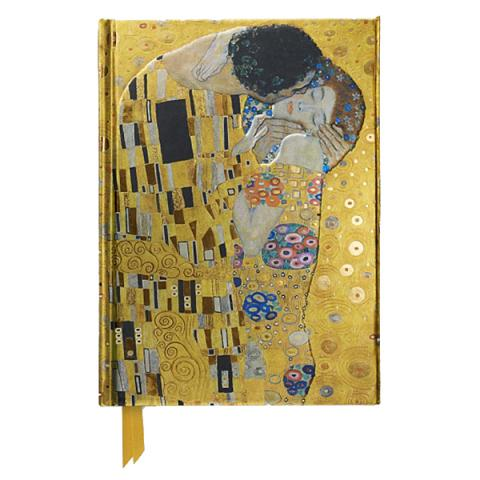 The Kiss by Gustav Klimt A5 foil cover notebook