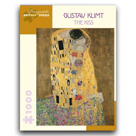The Kiss by Gustav Klimt jigsaw puzzle (1000 pieces)