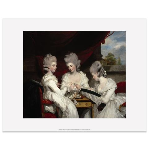 The Ladies Waldegrave by Sir Joshua Reynolds art print