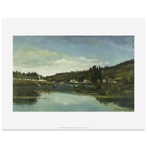 The Marne at Chennevières by Camille Pissarro art print