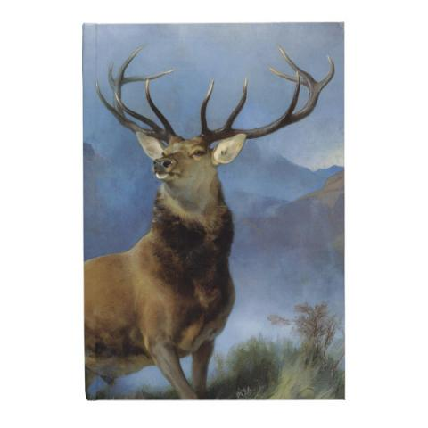 The Monarch of the Glen by Edwin Landseer A6 hardback lined notebook