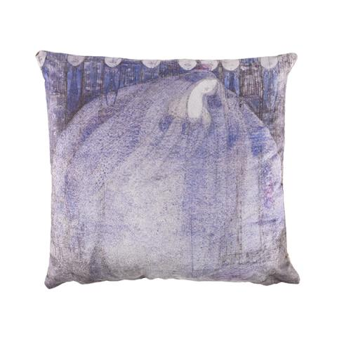 The Mysterious Garden by Margaret Macdonald Mackintosh suedette fabric cushion