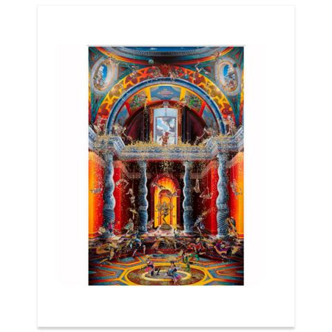 The Purification of the Temple (after Marcello Venusti) II by Raqib Shaw mounted art print