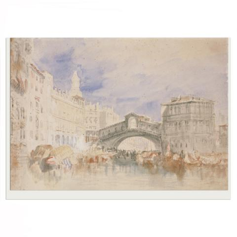 The Rialto by JMW Turner greeting card