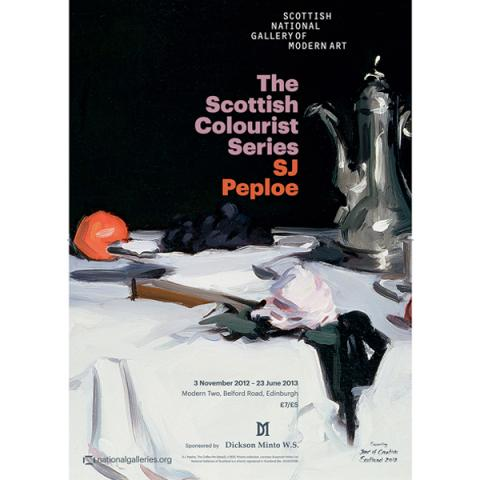 SJ Peploe exhibition poster