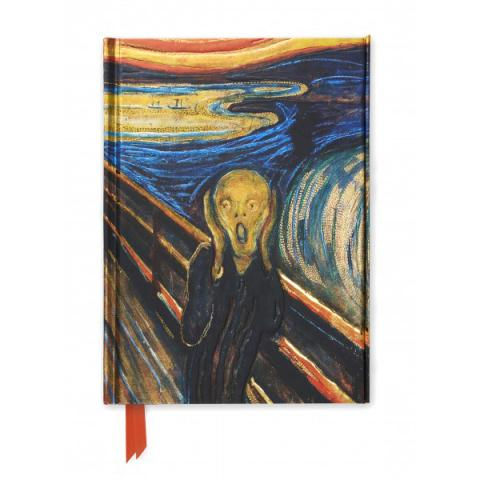 The Scream by Edvard Munch A5 foil cover notebook